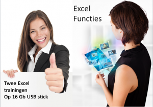 Twee Excel trainingen op USB stick thuis gestuurd