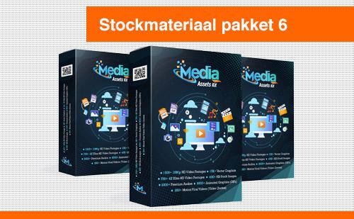 """Stockmateriaal pakket 6 """"Media Assets Kit"""""""