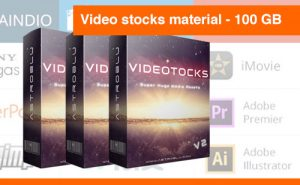 Video stocks material V2 100 GB